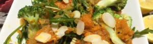 Pumpkin Broccoli and Almond Salad |www.healthymealstoyourdoor.com.au/beta